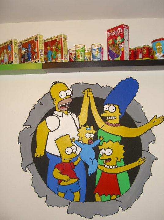 Simpsons Mural
