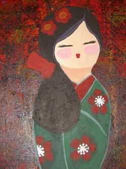 winter kokeshi
