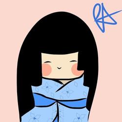 "May ""warmth"" #peijisanart #kokeshi #kawaii #japanese #cute #adobedraw"