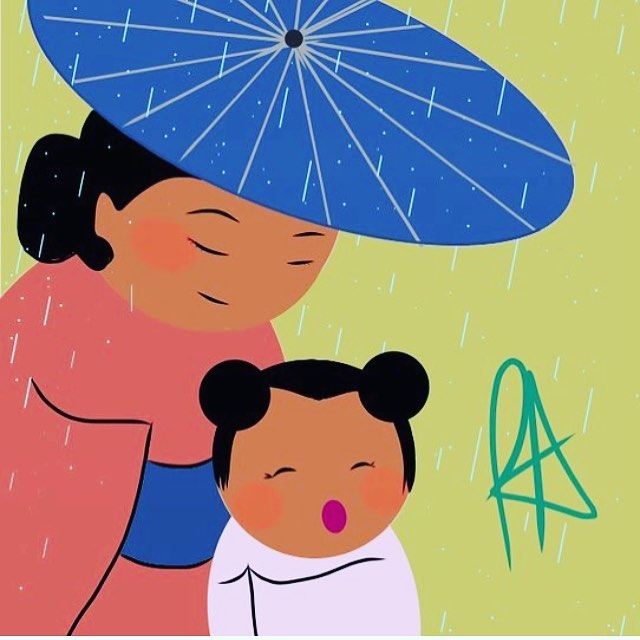 Happy Mother's Day #repost #mothersday #mom #amotherslove #rainydays #kimono #yukata #👘 #👩‍👧