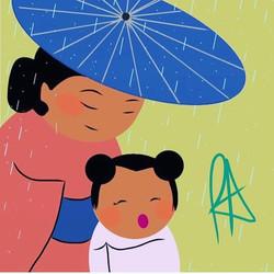 Happy Mother's Day #repost #mothersday #mom #amotherslove #rainydays #kimono #yukata #👘 #👩👧