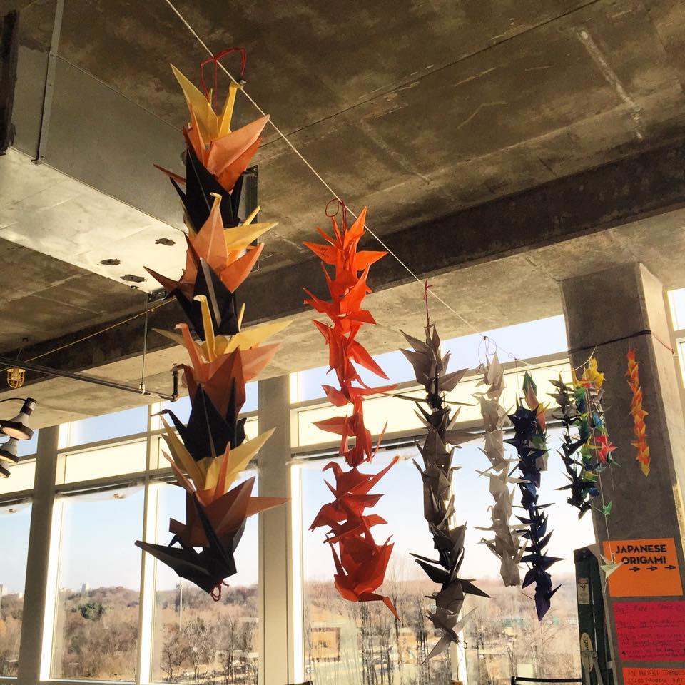 hanging origami