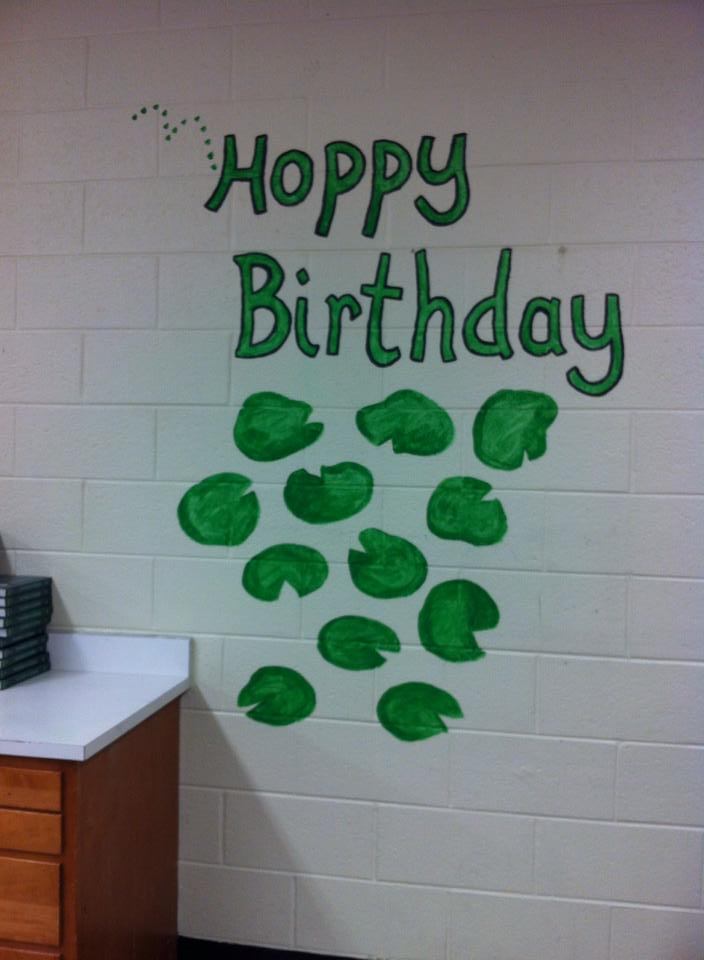 School Birthday Chart Mural