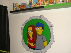 """""""Simpsonized"""" Couple"""