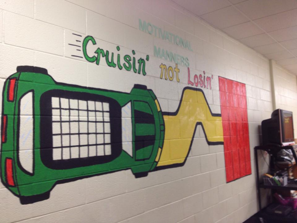 Middle School Progress Chart Mural