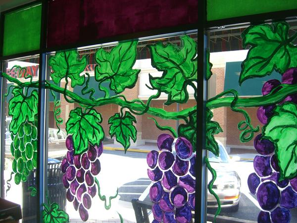 grape mural from inside