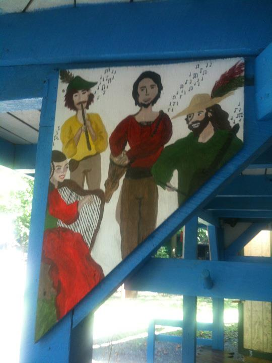 MD Renn Faire - mini minstrel mural