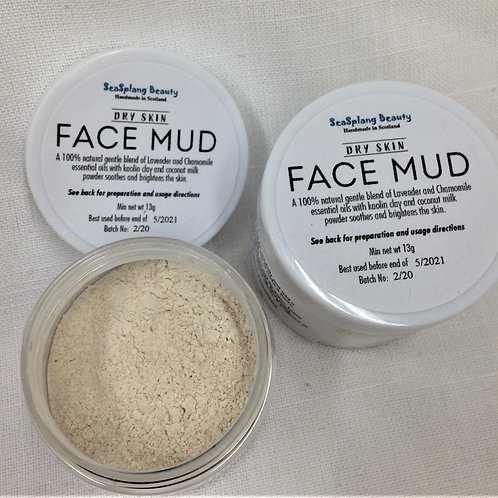 Dry Face Mud in a jar