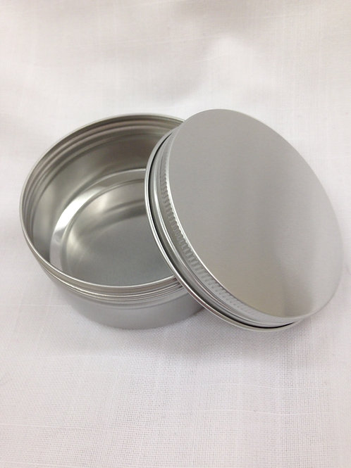 An opened aluminium tin
