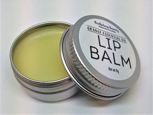 Seaplang Beauty Orange Lip Balm in a  tin