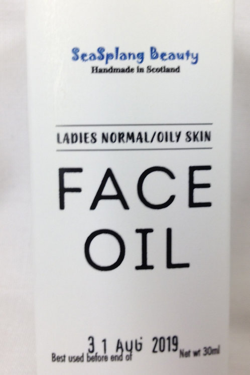 Ladies Face Oil for Normal/Oily Skin