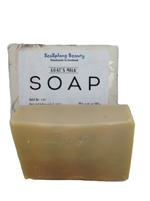 Seasplang Beauty Natural soap company uk Goats Milk Soap fragranced with Honeyed Almond fragrance packaged in paper