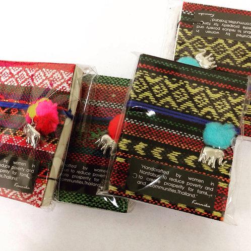 Small Notebook with Elephant Pom Pom