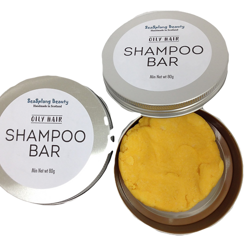 Seasplang Beauty Shampoo Bar for Oily Hair packaged in a tin