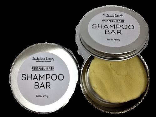 Seasplang Beauty Shampoo Bar for normal hair packaged in an aluminium tin