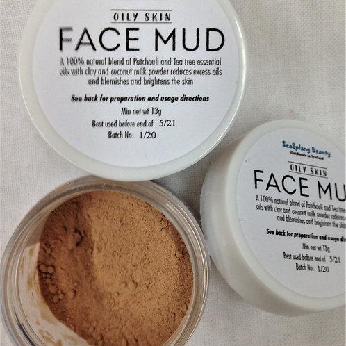 Oily skin Face Mud in a jar
