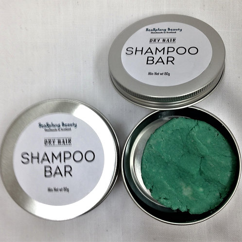 Seasplang Beauty Shampoo Bar with tin A blue coloured bar
