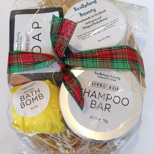 Hair & Body Sandalwood and Citrus Gift Basket