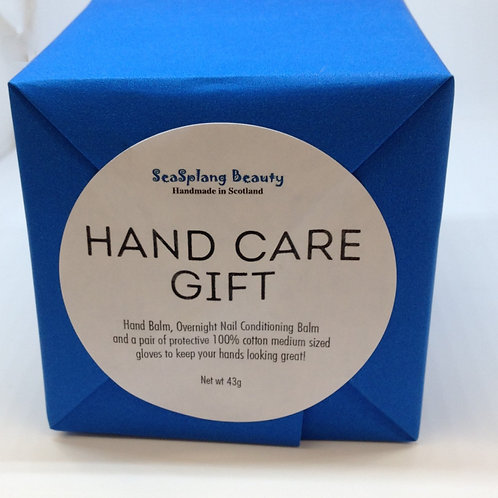 Seaplang Beauty Hand Care Gift, a blue paper wrapped box