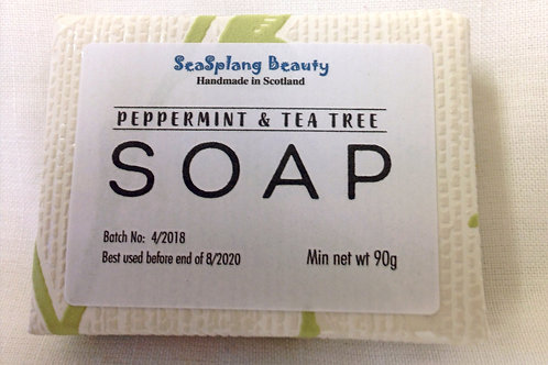Seasplang Beauty Natural soap company uk Peppermint and Tea Tree Soap