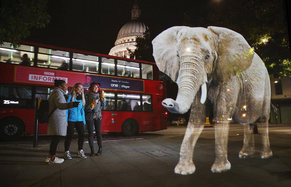 WWF Elephant Hologram