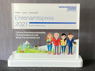 Ehrenamtspreis 2021 der Versicherungskammer Stiftung