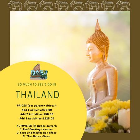 Thailand Activity Menu