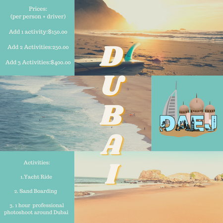 Dubai Activity Menu
