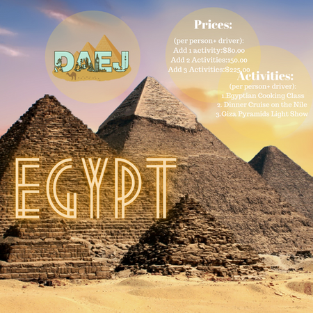 Egypt Activity Menu