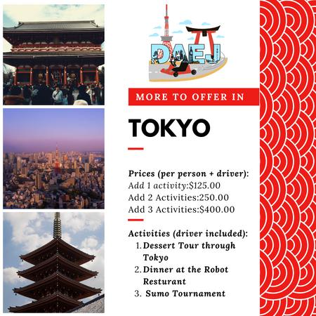 Tokyo Activity Menu
