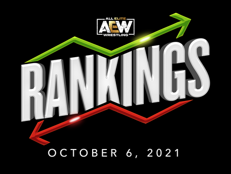 AEW Rankings as of Wednesday October 6, 2021