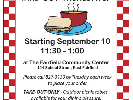 Soup and Sandwich Thursdays at the Community Center are back!