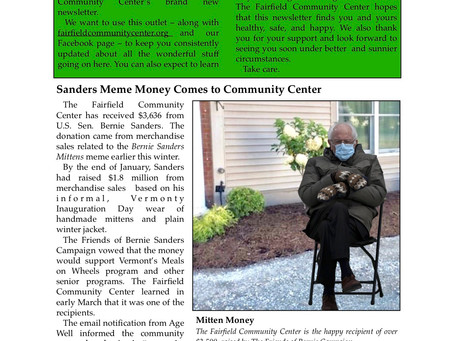 Community Center Launches Newsletter