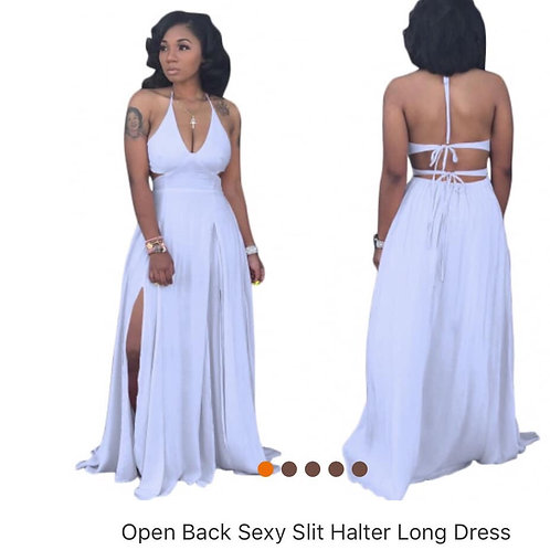 Sexy party dress, split sides and open back