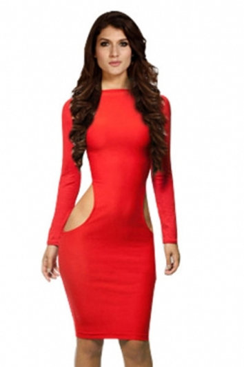 CLUB BODYCON CUTOUT DRESS