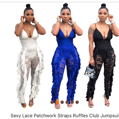 Sexy lacy women jumpsuit