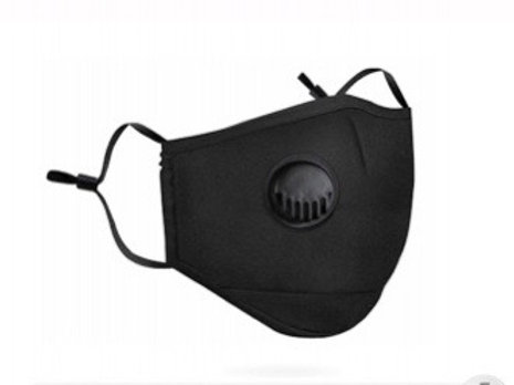 Anti-Pollution Activated Carbon Black Breathing Valve Face Mask
