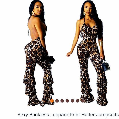 Sexy Leopard Print Jumpsuit