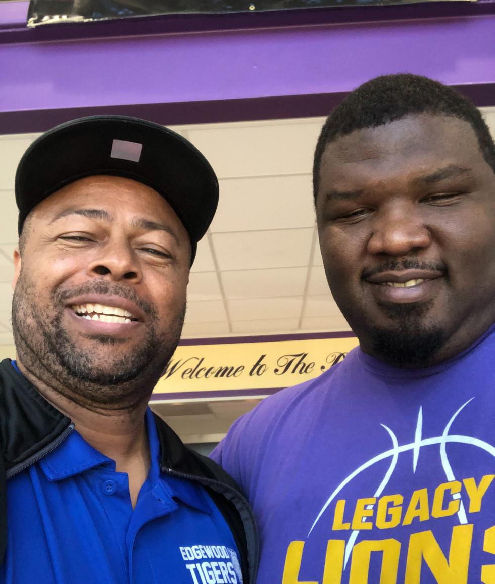 Coach James and Coach Jackson