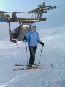 Monika at the summit lift