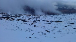 Glencoe ski centre had (just) enough snow, just a shame about the cloud and the rain