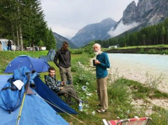 The picturesque Olympia Campsite a mile or so north of Cortina.