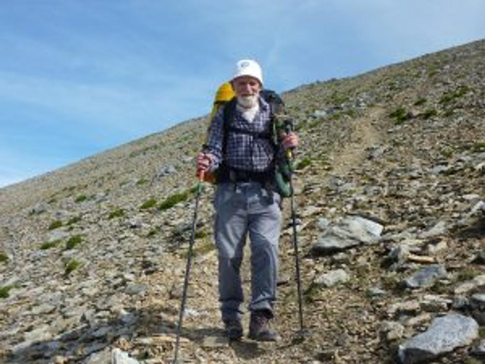 Homeward bound, the last trudge down the slopes of Elidir Fawr