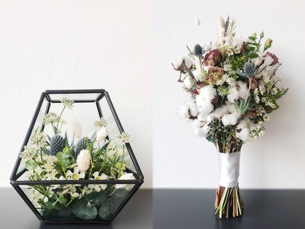 Ring holder & bridal bouquet
