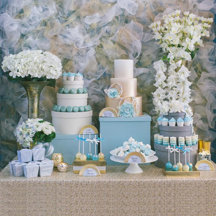 A Dessert bar photo-shoot: A Dusty Blue flocculence
