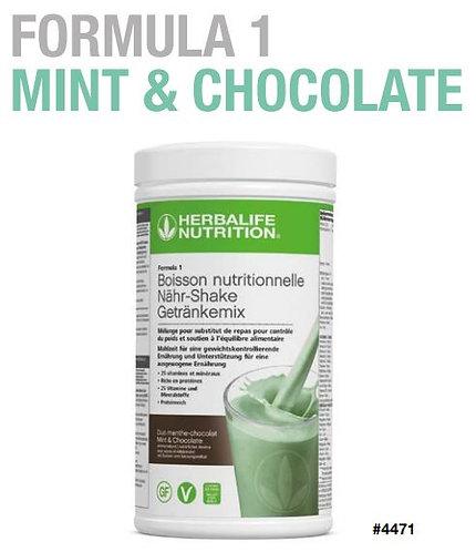 Minze & Schokolade Shake FORMULA 1 VEGAN (21 Portionen)