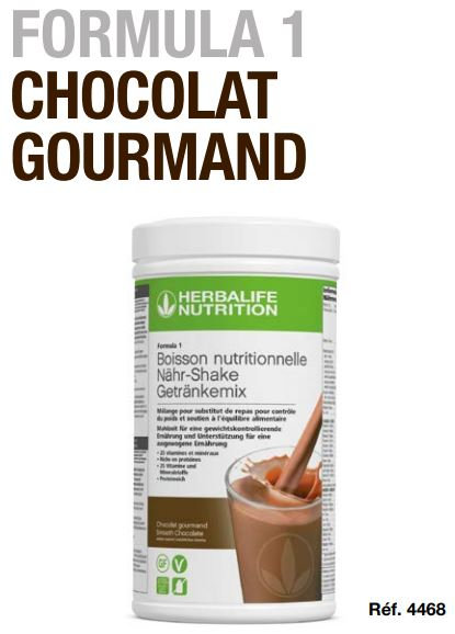 Chocolat Gourmand Shake Vegan FORMULA 1 550g (21 portions)