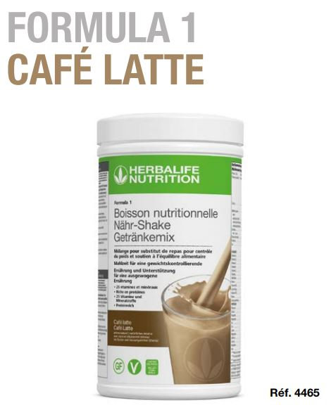 CAFE LATTE Shake VEGAN FORMULA 1 550g (21 portions)
