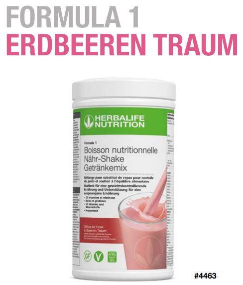 Erdbeeren Traum Vegan Shake FORMULA 1 (21 Portionen)