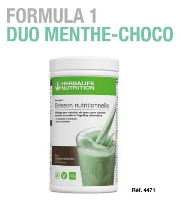 Menthe chocolat Shake VEGAN FORMULA 1 550g (21 portions)